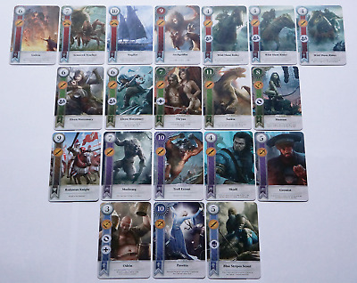 GWINT/GWENT style CARDS (20 ADD CARDS) Witcher 3 Wild Hunt (ENG EDITION) 2ND EXP