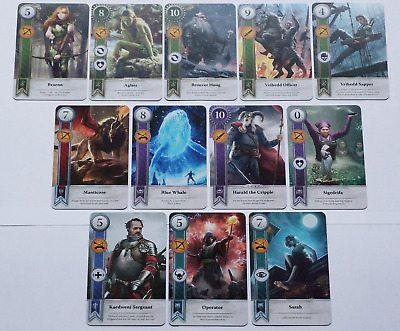 GWINT/GWENT style CARDS (12 ADD CARDS) Witcher 3 Wild Hunt (ENG EDITION) 3RD EXP
