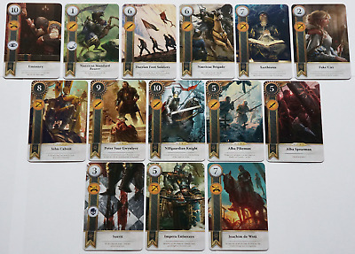 GWINT/GWENT style CARDS (14 ADD CARDS) Witcher 3 Wild Hunt (ENG EDITION) 4TH EXP