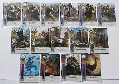 GWINT/GWENT style CARDS (15 ADD CARDS) Witcher 3 Wild Hunt (ENG EDITION) 5TH EXP