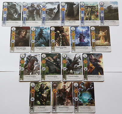 GWINT/GWENT style CARDS (18 ADD CARDS) Witcher 3 Wild Hunt (ENG EDITION) 6TH EXP