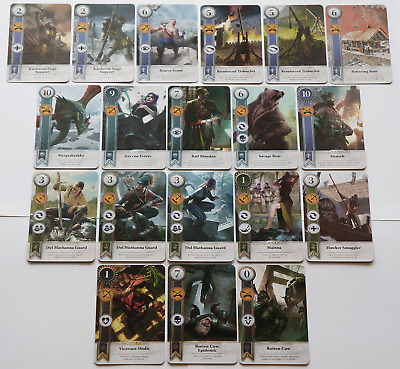 GWINT/GWENT style CARDS (19 ADD CARDS) Witcher 3 Wild Hunt (ENG EDITION) 7TH EXP