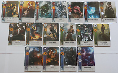 GWINT/GWENT style CARDS (17 ADD CARDS) Witcher 3 Wild Hunt (ENG EDITION) 8TH EXP