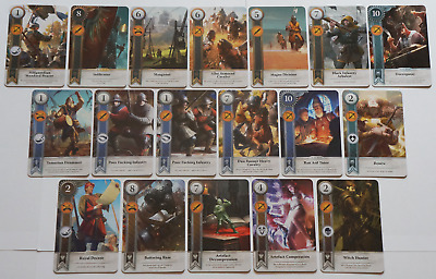 GWINT/GWENT style CARDS (18 ADD CARDS) Witcher 3 Wild Hunt (ENG EDITION)10TH EXP