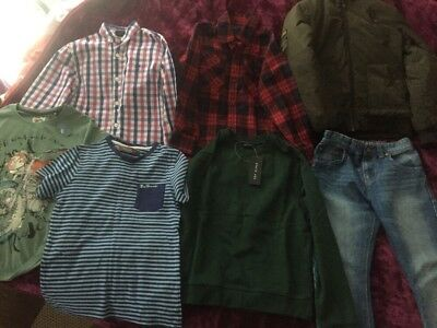 Quality Bundle Of Boy Clothes 7/8 Years Winter Jacket,next Jeans,gap Shirt VGC🌹