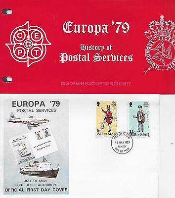 History Of Postal Services Europa 1979 Fdc And Presentation Pack