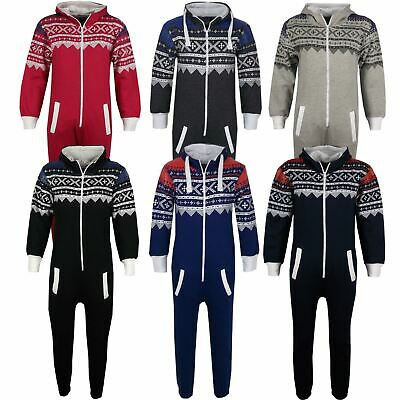 Kids Girls Boys A2Z Onesie One Piece Aztec Snowflake Print All In One Jumpsuits