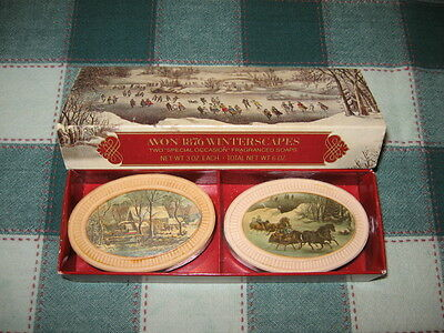 Avon 1876 Currier & Ives Winterscapes Fragranced Guest Soaps Box of 2~3oz Each