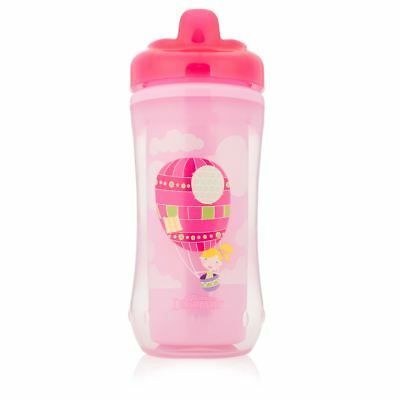Dr Brown's Toddler Feeding Sippy Cup Spout Insulated Spill-Proof 300ml 12m+ Pink