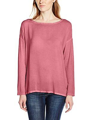 (TG. XL) rosa (Rosa  (sweet apricot rose 5469)) TOM TAILOR - dyed fabric mix tee