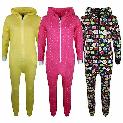 Kids Girls Boys Polka Dot Fruit Print Cotton A2Z Onesie One Piece Pj's 2-13 Year