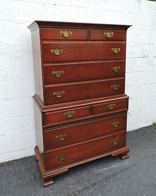 Tall Solid Cherry Chest on Chest  with 9 Drawers by Pennsylvanian House  7727