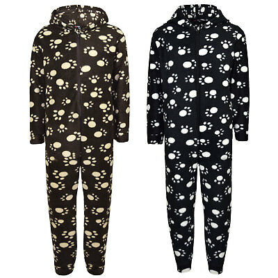 Unisex Kids Girls Boys Paw Print Hooded Stylish A2Z Onesie One Piece 2-6 Years