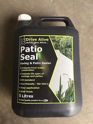DRIVE ALIVE PATIO SEAL 5Ltr PAVING & PATIO SEALER - BOND-IT