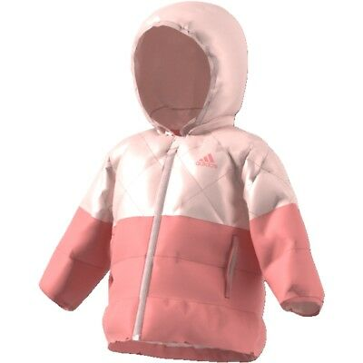 adidas Infants Padded Girls Pink CF1565 Jacket Age 12/18 Months - 3/4 Years
