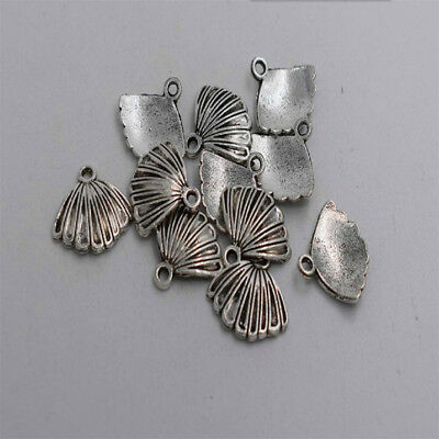 20pcs Antique silver plated nice shell charm pendant T0239