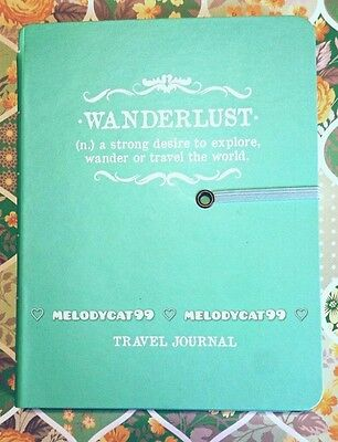 """Typo"" Travel Diary Planner Journal Notebook Hardcover, Wanderlust"