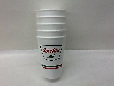 5 Vintage Dino Sinclair 12 Oz. Insulated Cups - Never Used