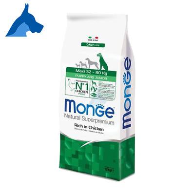 Monge Maxi Puppy and Junior SuperPremium Natural 12 kg o 24 Kg Pollo