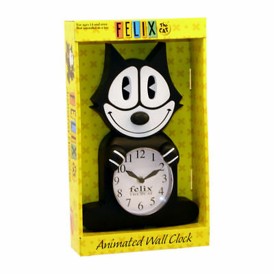 FELIX THE CAT ANIMATED WALL CLOCK (Black) (SHIPS DIRECT FROM THE FELIX STUDIOS)