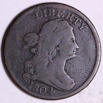 1804 Spiked Chin Draped Bust Half Cent         R11RLT