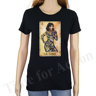 797f3a6790 LOTERIA CARD LA Dama Mexican Card Game Graphic T Shirt - $8.99 ...
