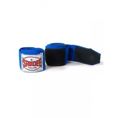Sandee Muay Thai Hand Wraps Kids 2.5m Muay Thai Boxing - Blue