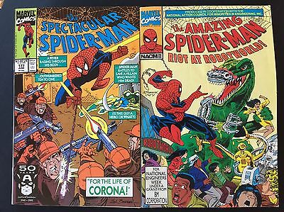 Marvel The Spectacular Spiderman #177 June 1991 + The Amazing Spiderman NACME 91