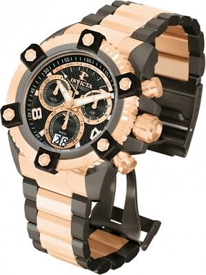 New Mens Invicta 12987 Reserve Arsenal Chronograph Black Dial Bracelet Watch