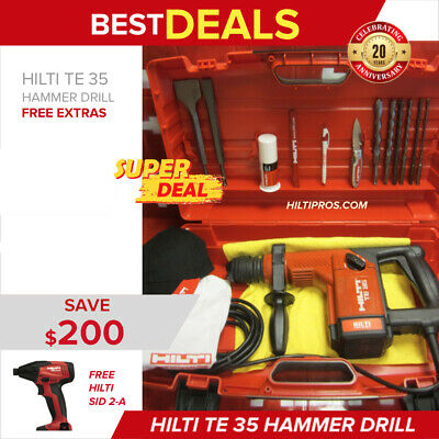 Hilti Te 35, Preowned, Free Sid 2-A, Extras, Original, Strong, Fast Ship