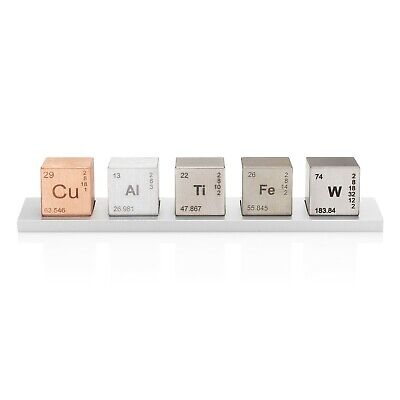 "Element 1"" Cube Set (Tungsten Carbide, Copper, Titanium, Aluminum, Iron alloys)"