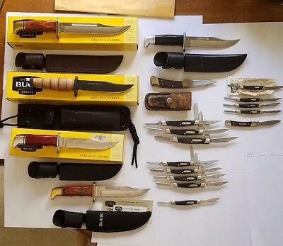 19 BUCK USA KNIFE LOT NEW/USED VINTAGE     black friday