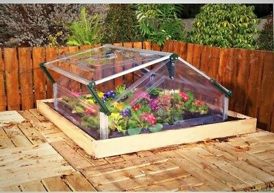 Palram Cold Frame 4 ft. x 3 ft. Rust Resistant Double Mini Garden Greenhouse