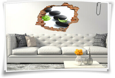 3d wandtattoo wellness zen bambus steine orchidee wandbild. Black Bedroom Furniture Sets. Home Design Ideas