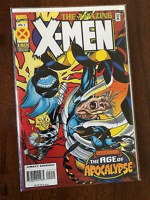 The Amazing X-Men #2 Age of Apocalypse April 1995 Marvel FREE bag/board