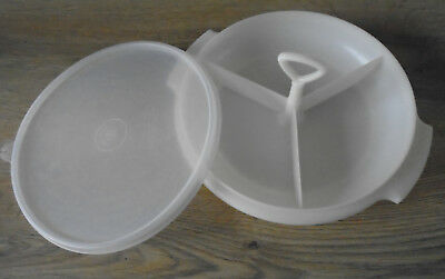Vintage Tupperware, Suzette Tray, with Lid and Handle