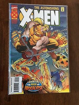 The Astonishing X-Men 1995 1st Series #2 Age of Apocalypse April FREE bag/board
