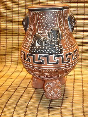 Footed Mexican vase/pot