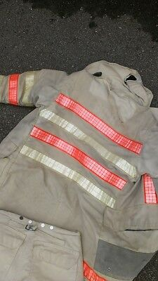 33x30 Vtg FIREFIGHTER Turnout Gear Fire CHIEF COAT & PANTS jacket Morning Pride