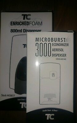 TC Enriched Foam Soap 800ml Dispenser #450013 NEW  with AEROSAL MICROBURST 3000