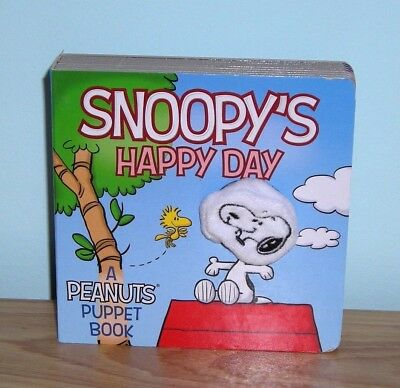 "Brand New &  Very Htf ~ Hardcover Peanuts Kids Puppet Book ""snoopy's Happy Day"""
