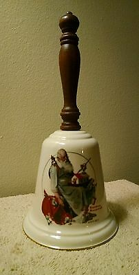 "Vintage Norman Rockwell Gorham China 1975 Christmas Bell ""Santa's Helpers"""