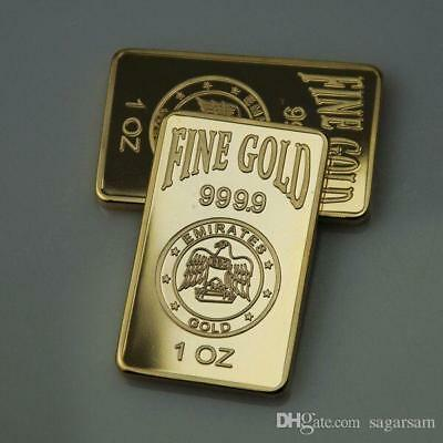 1 Oz. Gold Clad Layered ,999 Pure 24K With Rose