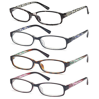 04a824a2d501 GAMMA RAY 3 Pairs of Thin Women s Reading Glasses Readers w  Magnification