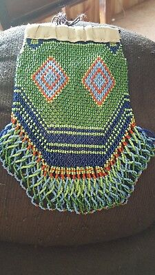 ANTIQUE Native American  Indian Beaded Bag -