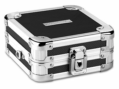 Vaultz CD DVD Wallet Case Holder Key lock Box Storage Portable 32 CD Capacity