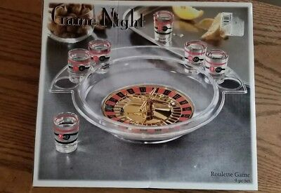 Drinking Game Roulette Set Alcohol Party Shot Glass Wheel Casino Bar Tools New