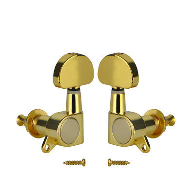 2PCS Gold Acoustic Electric Guitar Tuning Pegs Keys 1L 1R Machine Heads Tuners