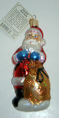 CHOCOLATE MOLD SANTA Blown Glass Old World Christmas Ornament New with Tags $15