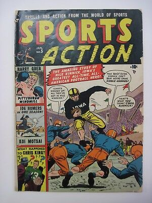 Vintage 1951 Sports Action Jan No. 5 Amazing Story of Nile Kinnick Comic Book